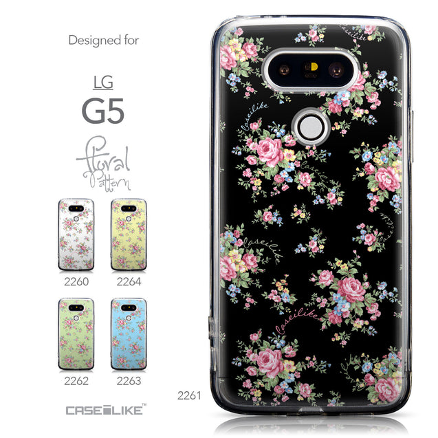 Collection - CASEiLIKE LG G5 back cover Floral Rose Classic 2261