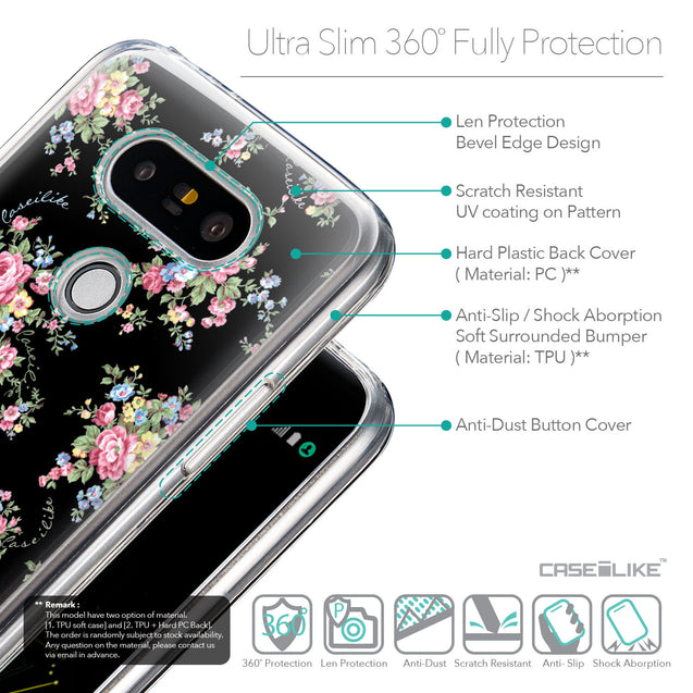 Details in English - CASEiLIKE LG G5 back cover Floral Rose Classic 2261