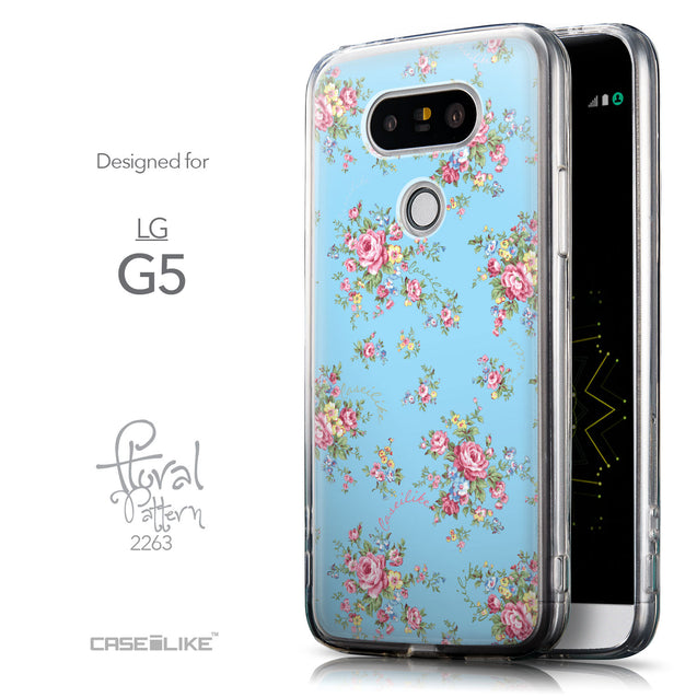 Front & Side View - CASEiLIKE LG G5 back cover Floral Rose Classic 2263