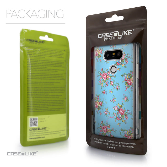Packaging - CASEiLIKE LG G5 back cover Floral Rose Classic 2263