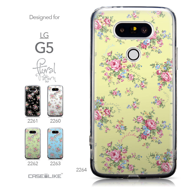 Collection - CASEiLIKE LG G5 back cover Floral Rose Classic 2264