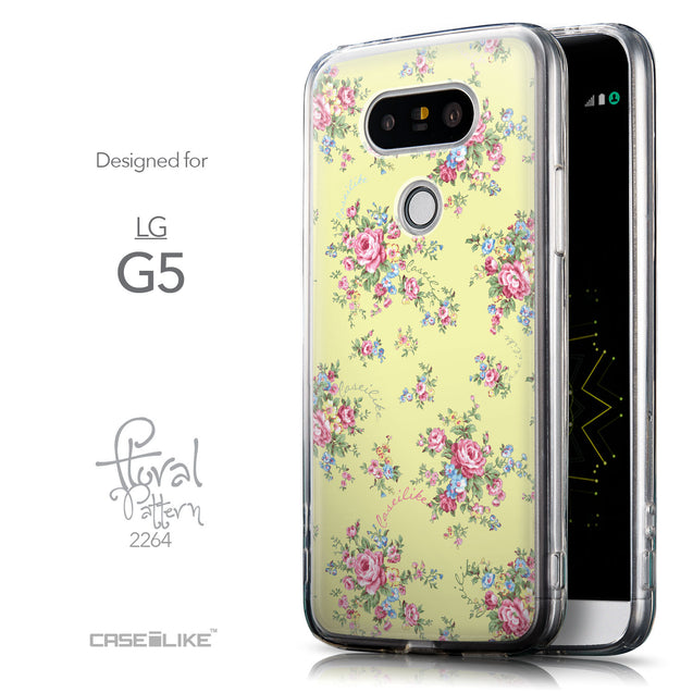 Front & Side View - CASEiLIKE LG G5 back cover Floral Rose Classic 2264