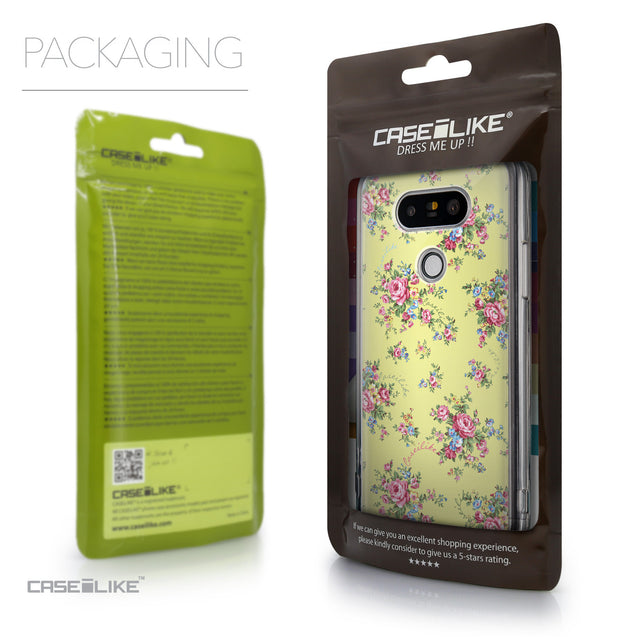 Packaging - CASEiLIKE LG G5 back cover Floral Rose Classic 2264