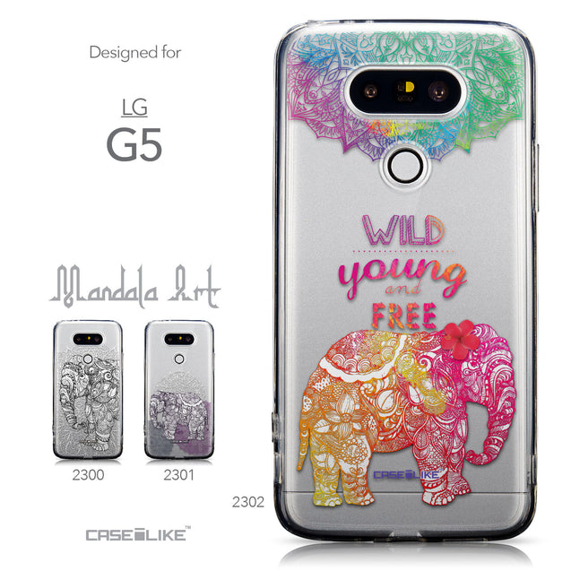 Collection - CASEiLIKE LG G5 back cover Mandala Art 2302