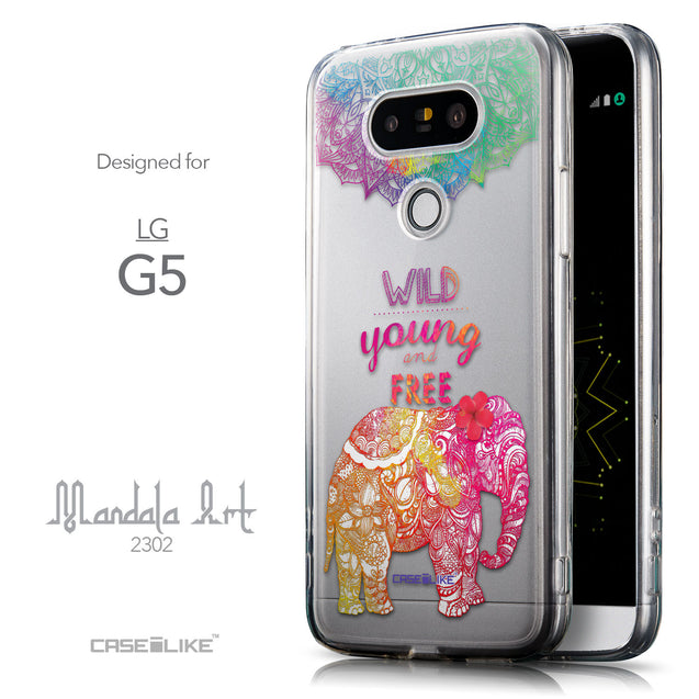 Front & Side View - CASEiLIKE LG G5 back cover Mandala Art 2302