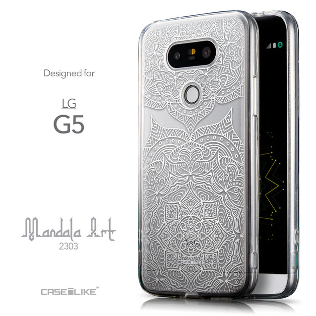 Front & Side View - CASEiLIKE LG G5 back cover Mandala Art 2303