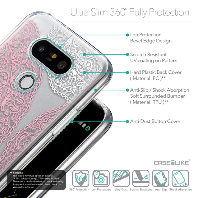 Details in English - CASEiLIKE LG G5 back cover Mandala Art 2305