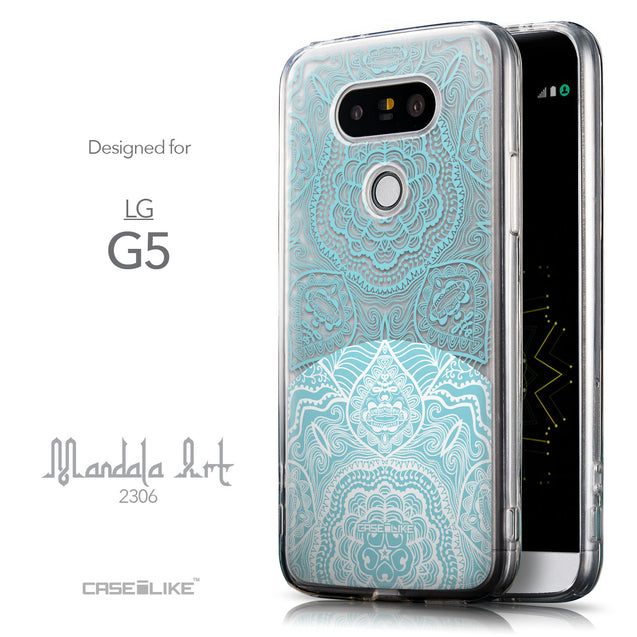 Front & Side View - CASEiLIKE LG G5 back cover Mandala Art 2306