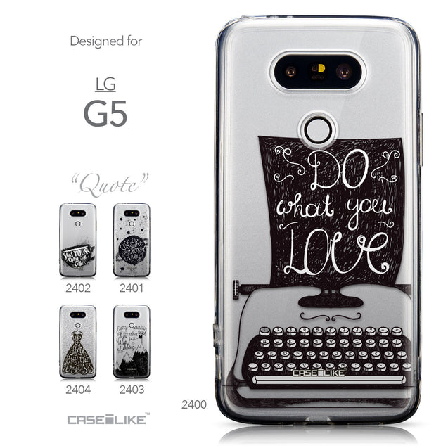 Collection - CASEiLIKE LG G5 back cover Quote 2400
