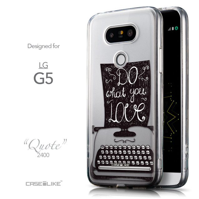 Front & Side View - CASEiLIKE LG G5 back cover Quote 2400