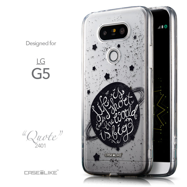 Front & Side View - CASEiLIKE LG G5 back cover Quote 2401
