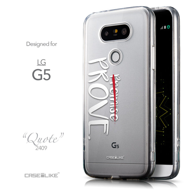 Front & Side View - CASEiLIKE LG G5 back cover Quote 2409