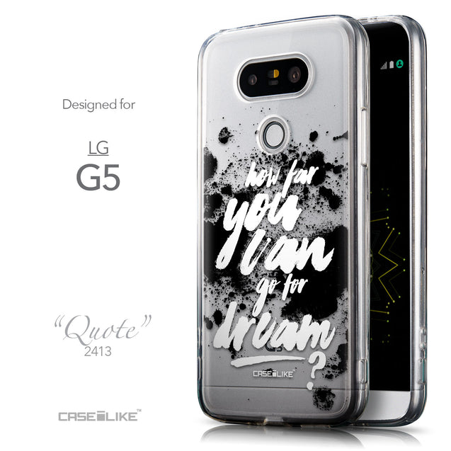 Front & Side View - CASEiLIKE LG G5 back cover Quote 2413