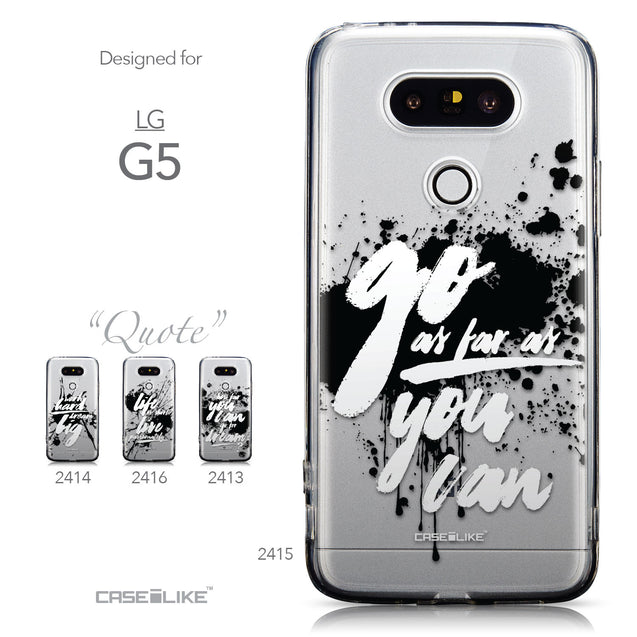 Collection - CASEiLIKE LG G5 back cover Quote 2415
