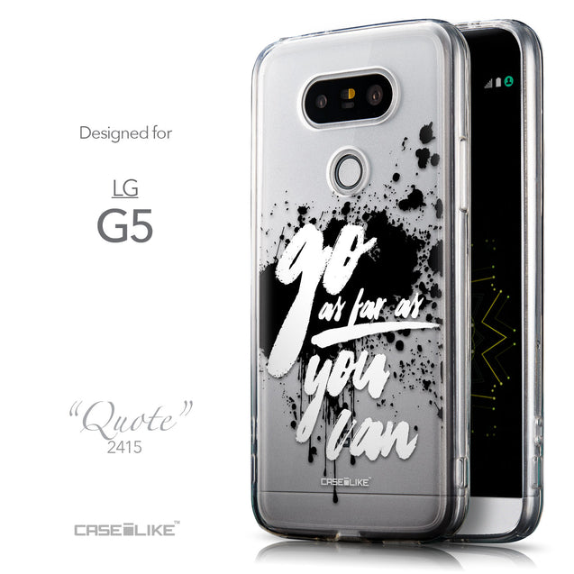 Front & Side View - CASEiLIKE LG G5 back cover Quote 2415