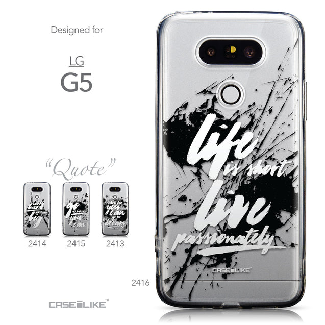 Collection - CASEiLIKE LG G5 back cover Quote 2416