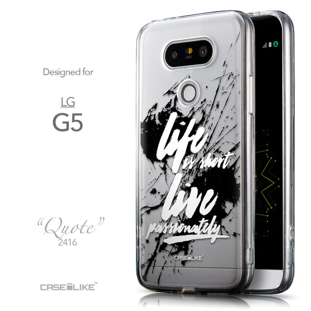 Front & Side View - CASEiLIKE LG G5 back cover Quote 2416
