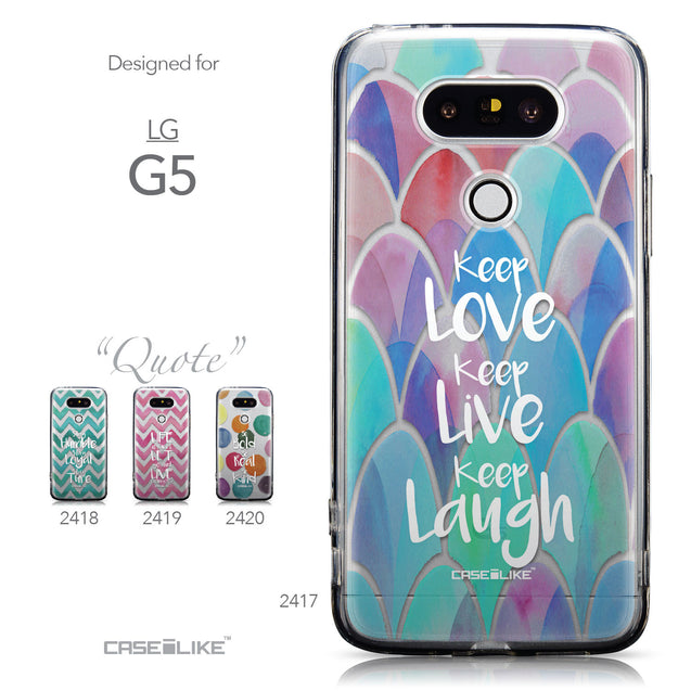 Collection - CASEiLIKE LG G5 back cover Quote 2417