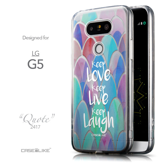 Front & Side View - CASEiLIKE LG G5 back cover Quote 2417