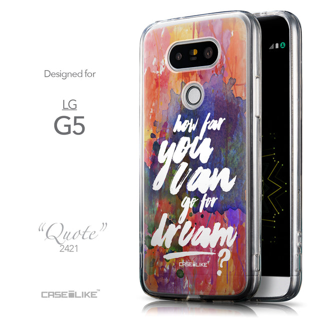 Front & Side View - CASEiLIKE LG G5 back cover Quote 2421
