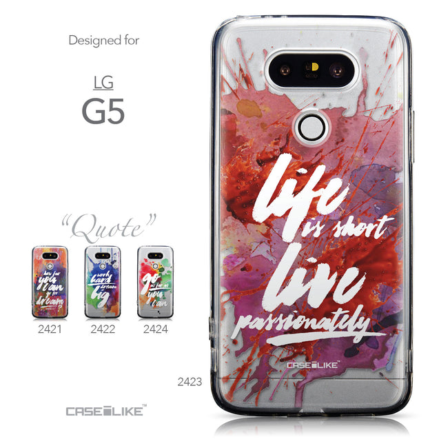 Collection - CASEiLIKE LG G5 back cover Quote 2423