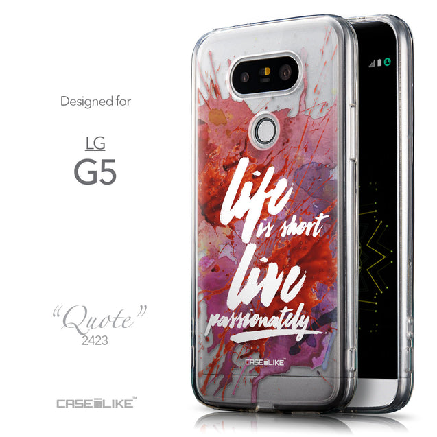 Front & Side View - CASEiLIKE LG G5 back cover Quote 2423
