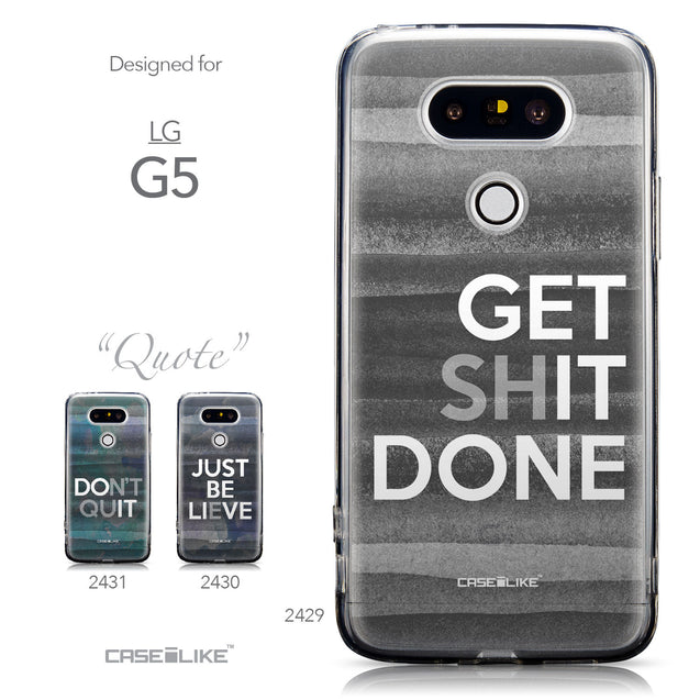 Collection - CASEiLIKE LG G5 back cover Quote 2429