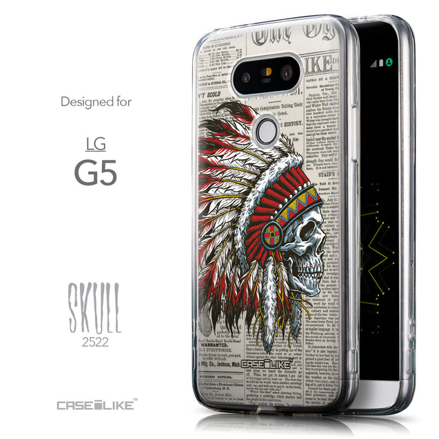 Front & Side View - CASEiLIKE LG G5 back cover Art of Skull 2522