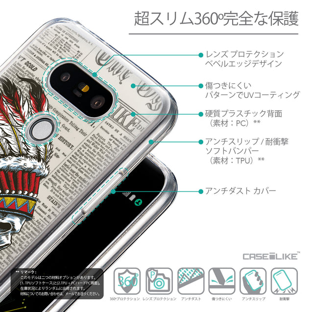 Details in Japanese - CASEiLIKE LG G5 back cover Art of Skull 2522