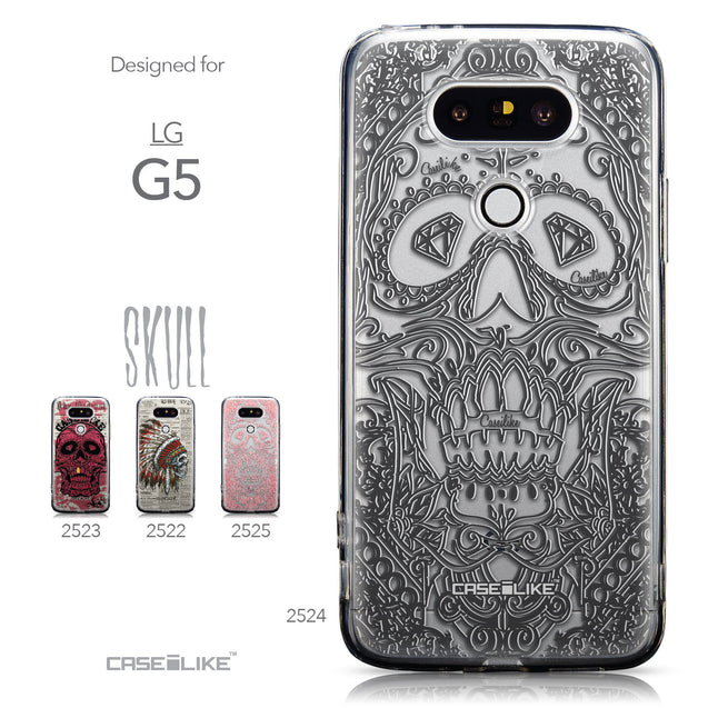 Collection - CASEiLIKE LG G5 back cover Art of Skull 2524