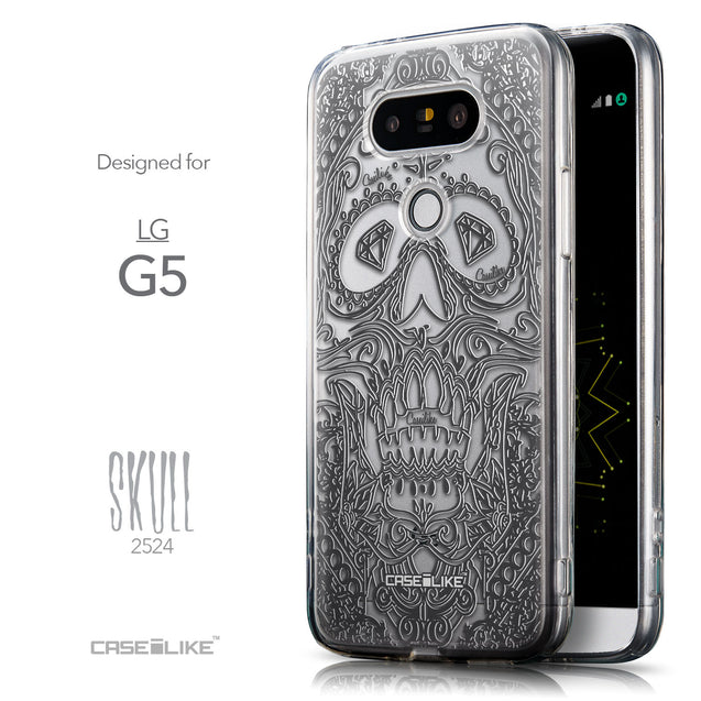 Front & Side View - CASEiLIKE LG G5 back cover Art of Skull 2524