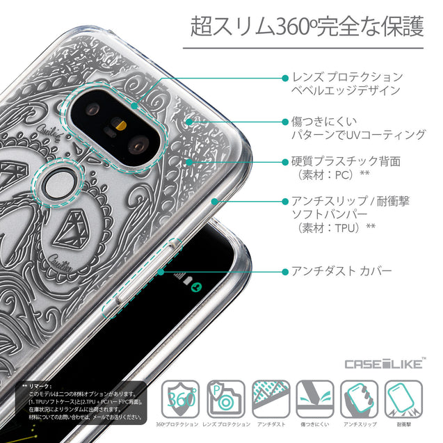 Details in Japanese - CASEiLIKE LG G5 back cover Art of Skull 2524