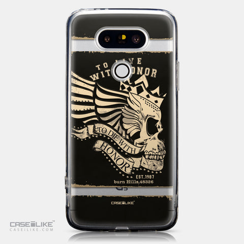 CASEiLIKE LG G5 back cover Art of Skull 2529