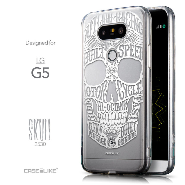 Front & Side View - CASEiLIKE LG G5 back cover Art of Skull 2530