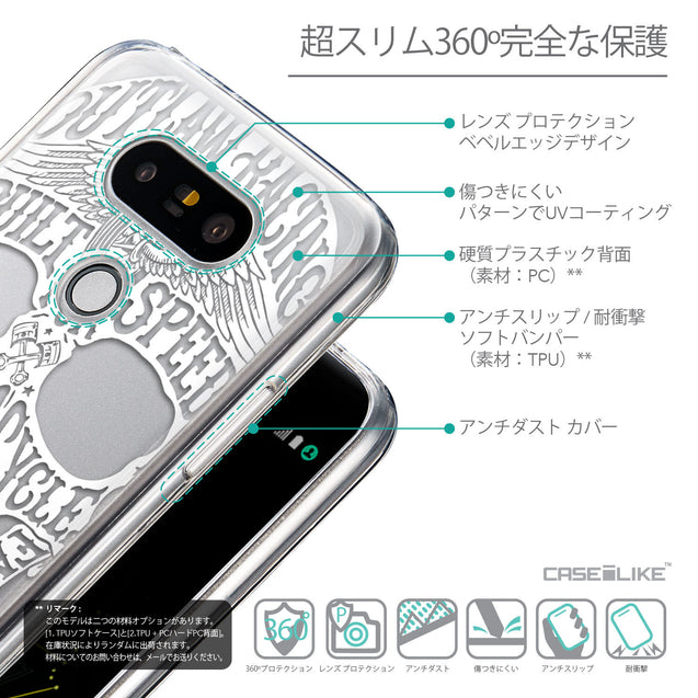 Details in Japanese - CASEiLIKE LG G5 back cover Art of Skull 2530