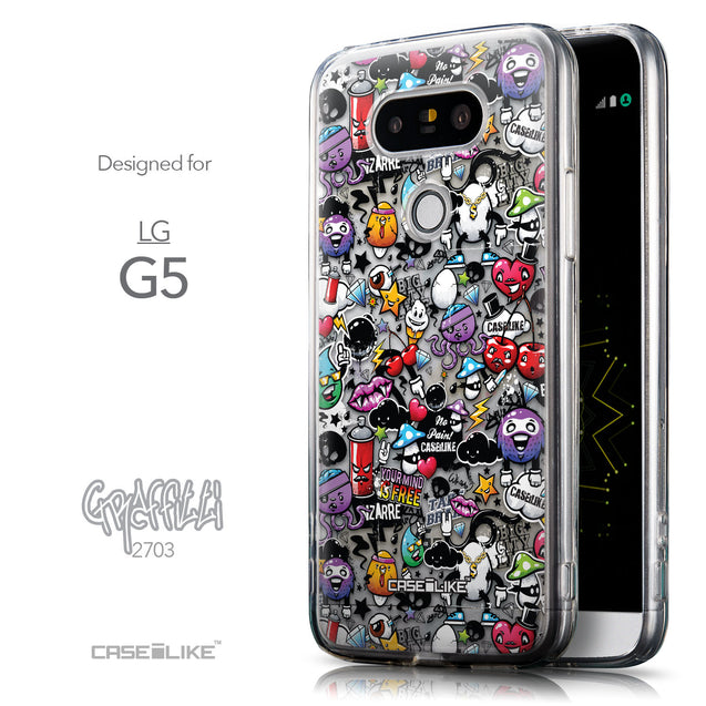 Front & Side View - CASEiLIKE LG G5 back cover Graffiti 2703