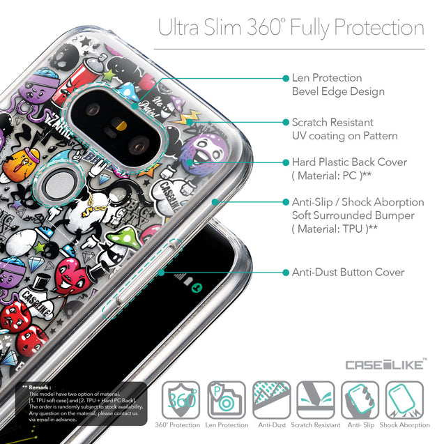 Details in English - CASEiLIKE LG G5 back cover Graffiti 2703