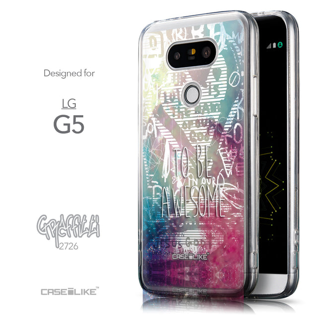 Front & Side View - CASEiLIKE LG G5 back cover Graffiti 2726
