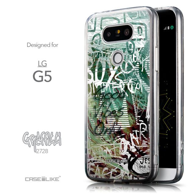 Front & Side View - CASEiLIKE LG G5 back cover Graffiti 2728