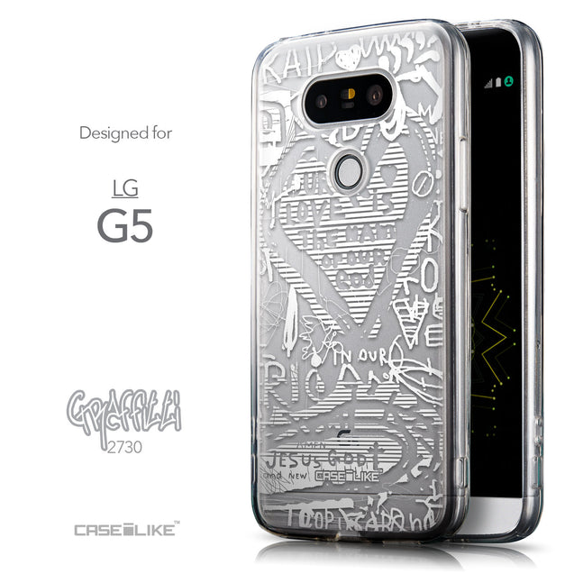 Front & Side View - CASEiLIKE LG G5 back cover Graffiti 2730