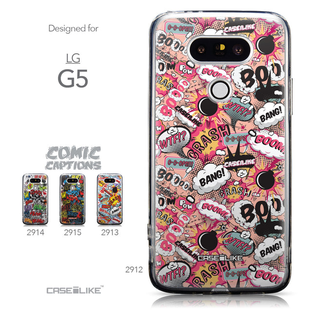 Collection - CASEiLIKE LG G5 back cover Comic Captions Pink 2912
