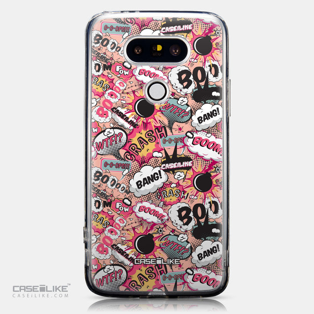 CASEiLIKE LG G5 back cover Comic Captions Pink 2912