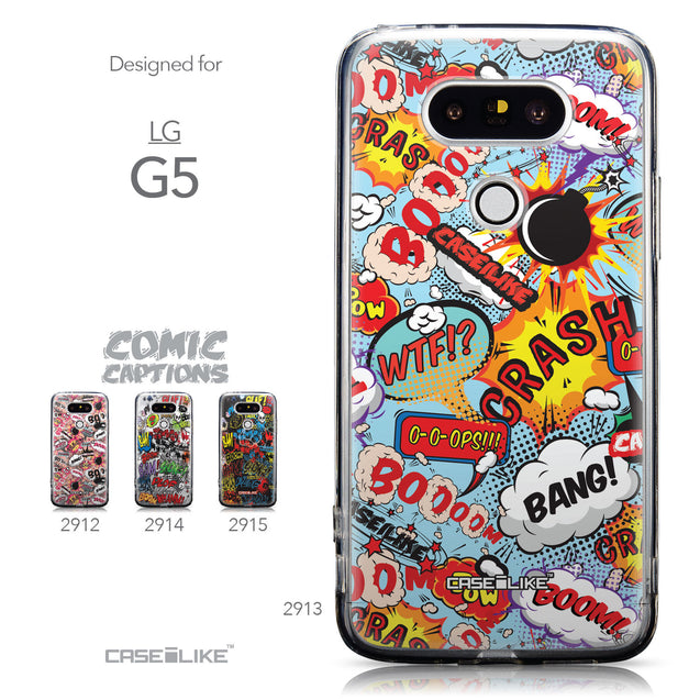 Collection - CASEiLIKE LG G5 back cover Comic Captions Blue 2913
