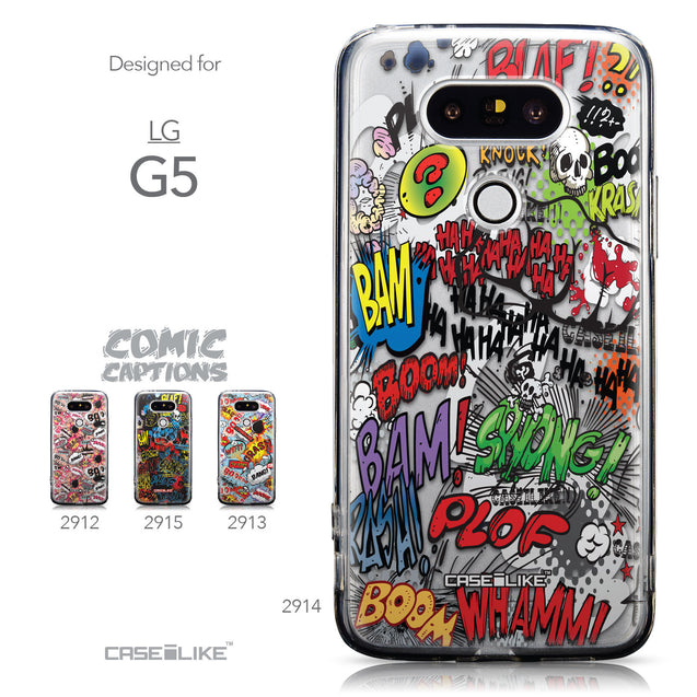 Collection - CASEiLIKE LG G5 back cover Comic Captions 2914