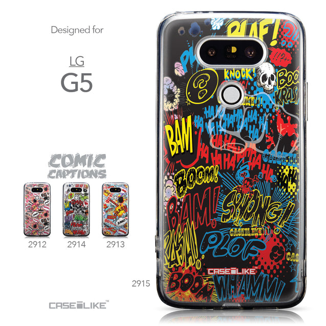 Collection - CASEiLIKE LG G5 back cover Comic Captions Black 2915