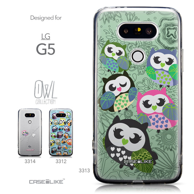 Collection - CASEiLIKE LG G5 back cover Owl Graphic Design 3313