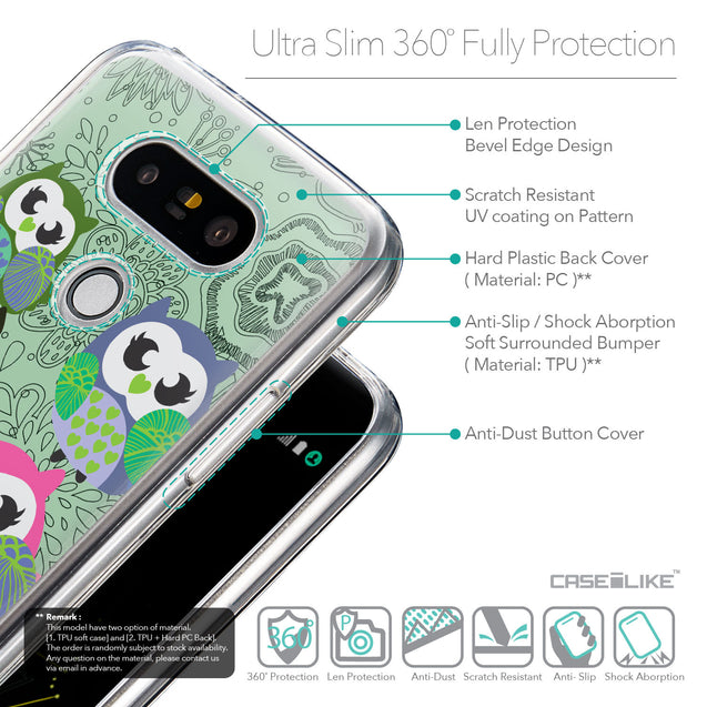 Details in English - CASEiLIKE LG G5 back cover Owl Graphic Design 3313