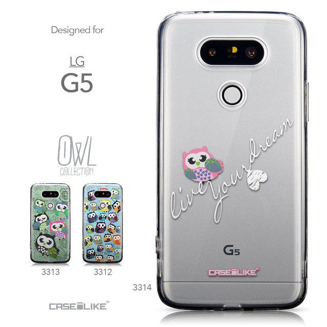 Collection - CASEiLIKE LG G5 back cover Owl Graphic Design 3314