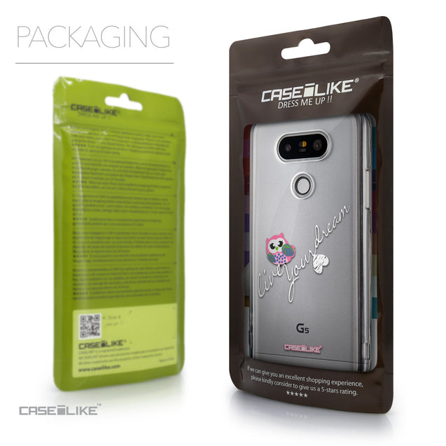 Packaging - CASEiLIKE LG G5 back cover Owl Graphic Design 3314