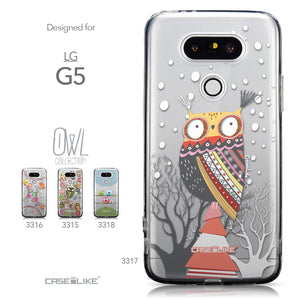 Collection - CASEiLIKE LG G5 back cover Owl Graphic Design 3317
